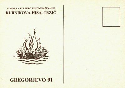 1991 Gregorjevo 91 vabilo 3a