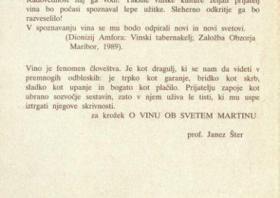 1994 Srečanje O vinu ob svetem Martinu vabilo 3d