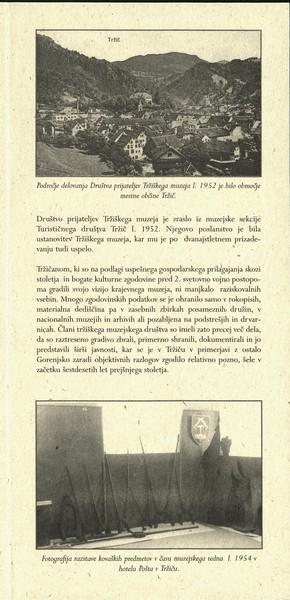 2002 Začetki organiziranega muzejskega dela v Tržiču vabilo 3c