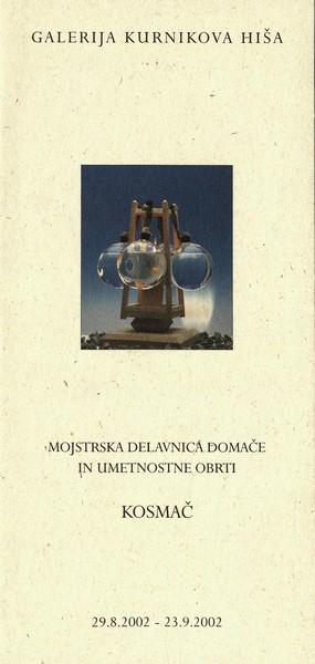 Delavnica mojstrov domače in umetnostne obrti Kosmač 2002 Govorica časov vabilo 3a