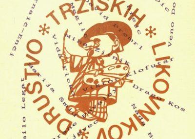 Društvo tržiških likovnikov 1993 10 obletnica Društva tržiških likovnikov vabilo 3d