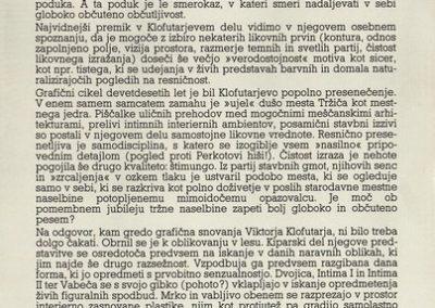 Klofutar Viktor 1991 Življenje oblik vabilo 3c