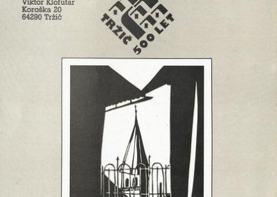 Klofutar Viktor 1991 Življenje oblik vabilo 3d