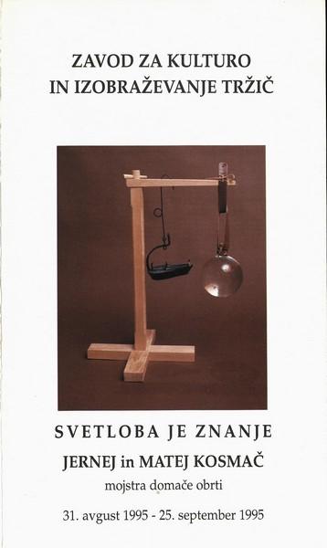 Kosmač Jernej in Matej 1995 Svetloba je znanje vabilo 3a