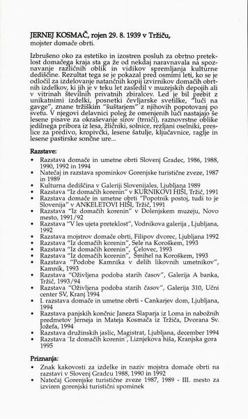 Kosmač Jernej in Matej 1995 Svetloba je znanje vabilo 3d