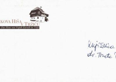 Kurnikova hiša pisemska ovojnica 3