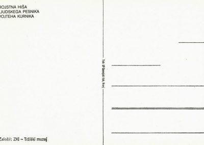 Kurnikova hiša razglednica 3b
