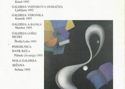Pečenko Sandro 1994 Srečanje z nečim drugim vabilo 3d